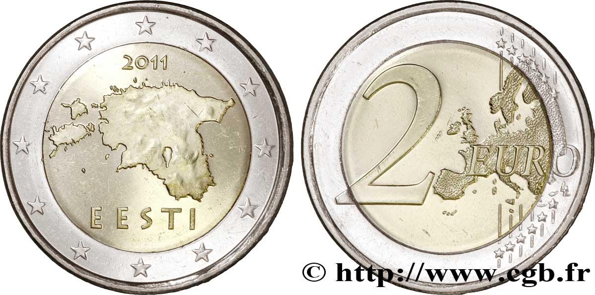 Estland 2 Euro Eesti 2011 Vanda Feu244657 Euro Münzen