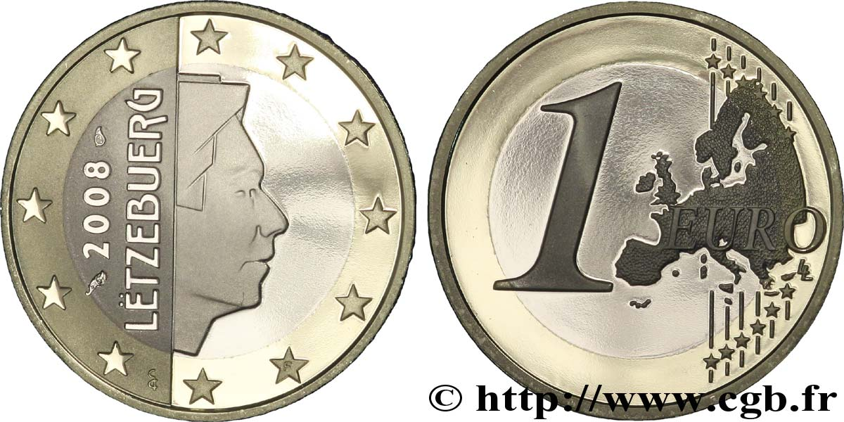 LUXEMBOURG 1 Euro GRAND DUC HENRI 2008 BE
