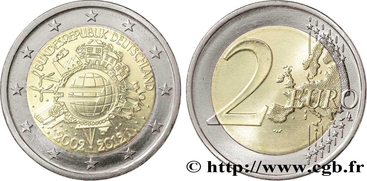 Deutschland 2 Euro 10 Ans Des Pièces Et Billets En Euros Berlin A