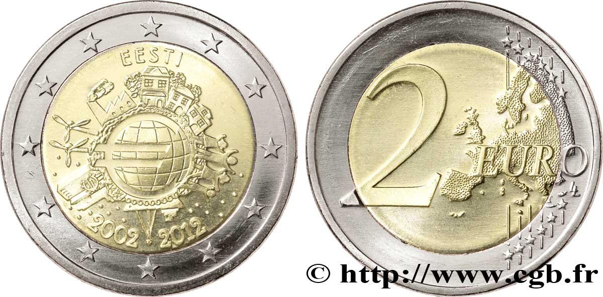 Estland 2 Euro 10 Ans Des Pièces Et Billets En Euros 2012 Feu268644