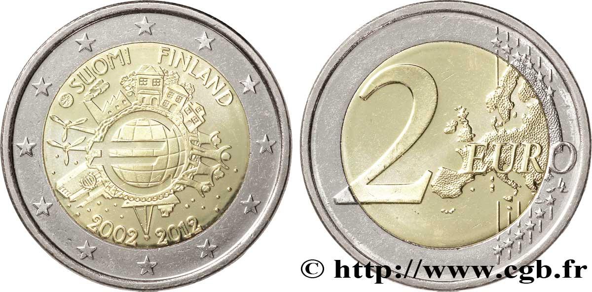 finland 2 euro 10 ans des pi ces et billets en euros tranche a 2012 ms63 feu 268646 euro coins. Black Bedroom Furniture Sets. Home Design Ideas
