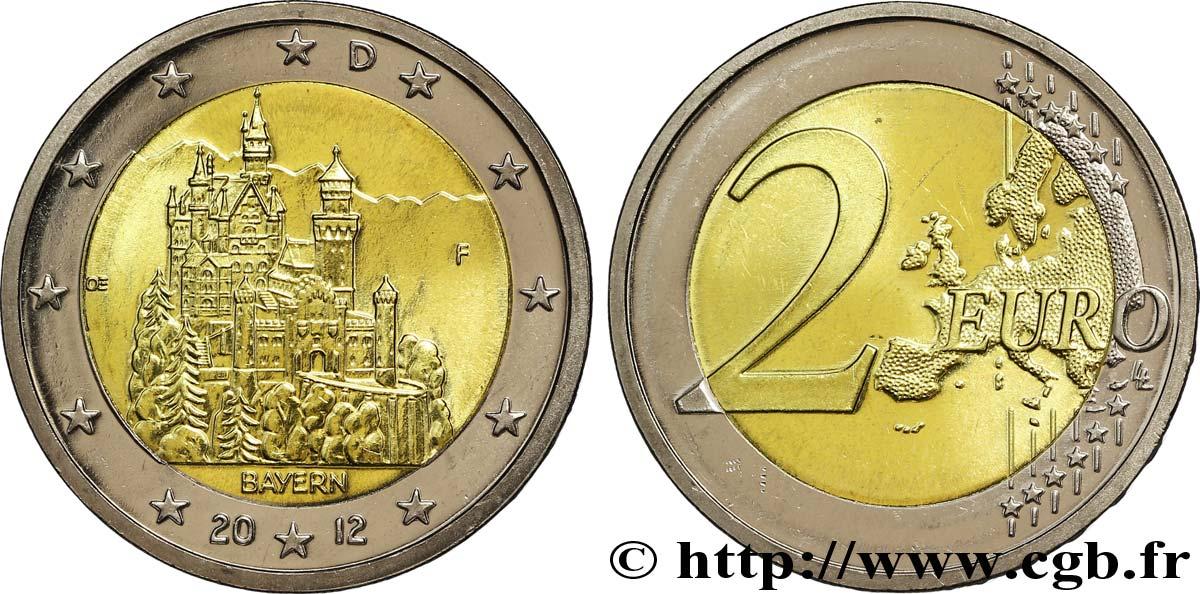 Deutschland 2 Euro Baviere Château De Neuschwanstein Tranche B