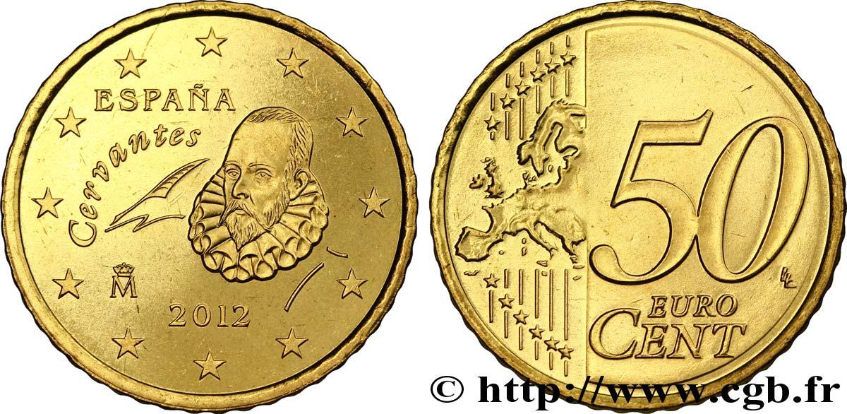 SPAIN 50 Cent CERVANTÈS 2012