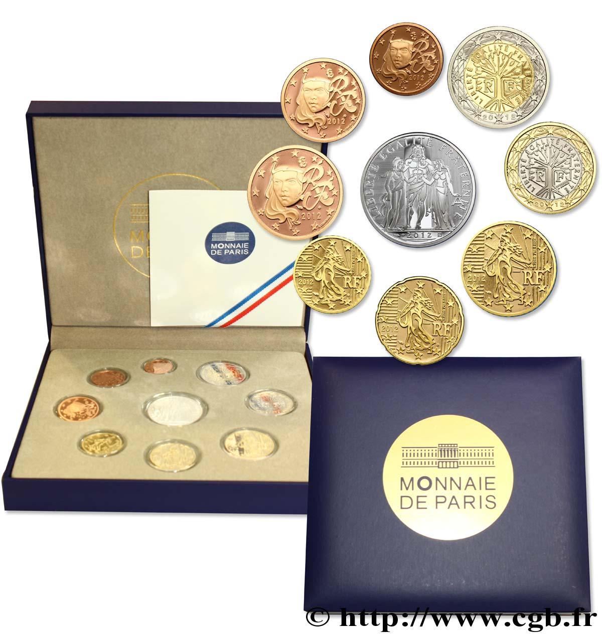 FRANCE COFFRET Euro BELLE ÉPREUVE 2012