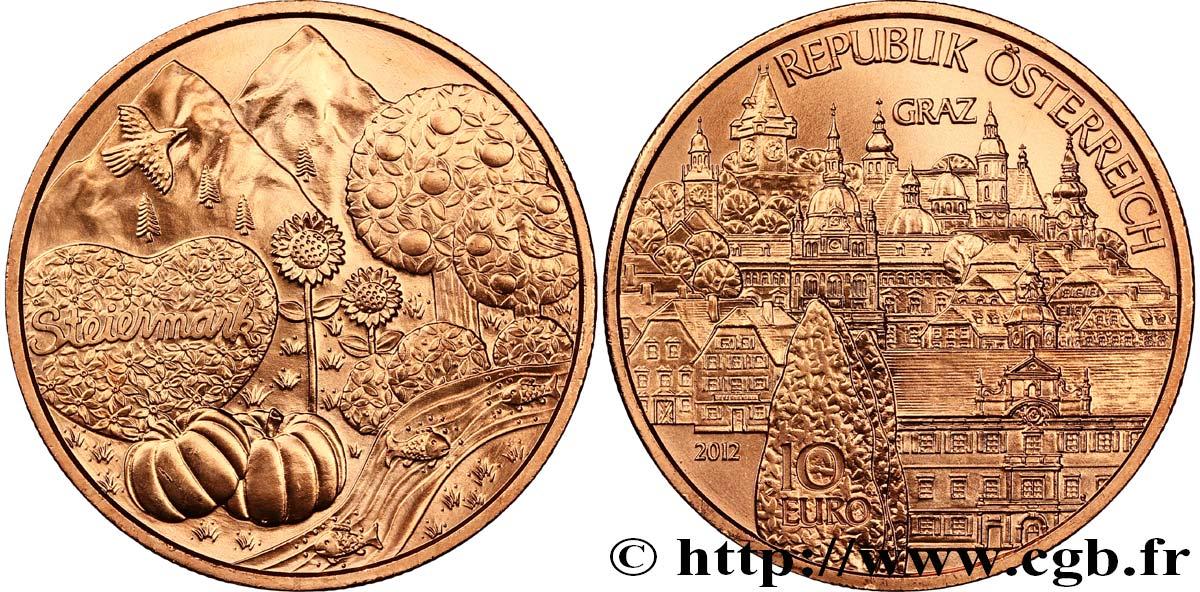 österreich 10 Euro Styrie Steiermark 2012 Vienne Feu499439 Euro