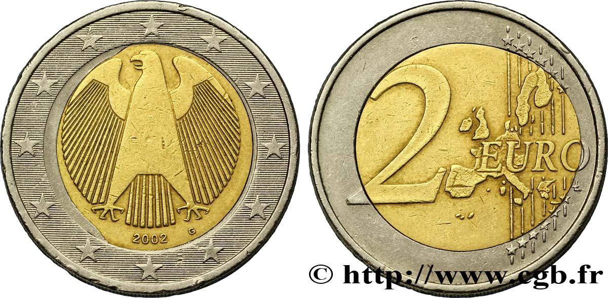 banque centrale europeenne 2 euro aigle h raldique insert d form 2002 karlsruhe g sup58 feu. Black Bedroom Furniture Sets. Home Design Ideas