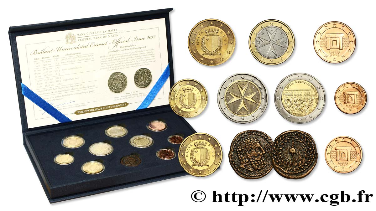 MALTA SÉRIE Euro BRILLANT UNIVERSEL 2012 Brilliant Uncirculated