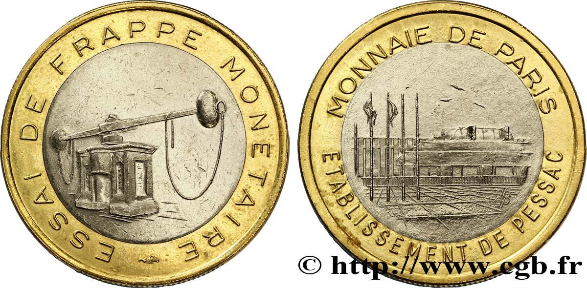 Europäische Zentralbank 1 Euro Essai De Frappe Monétaire Dit De