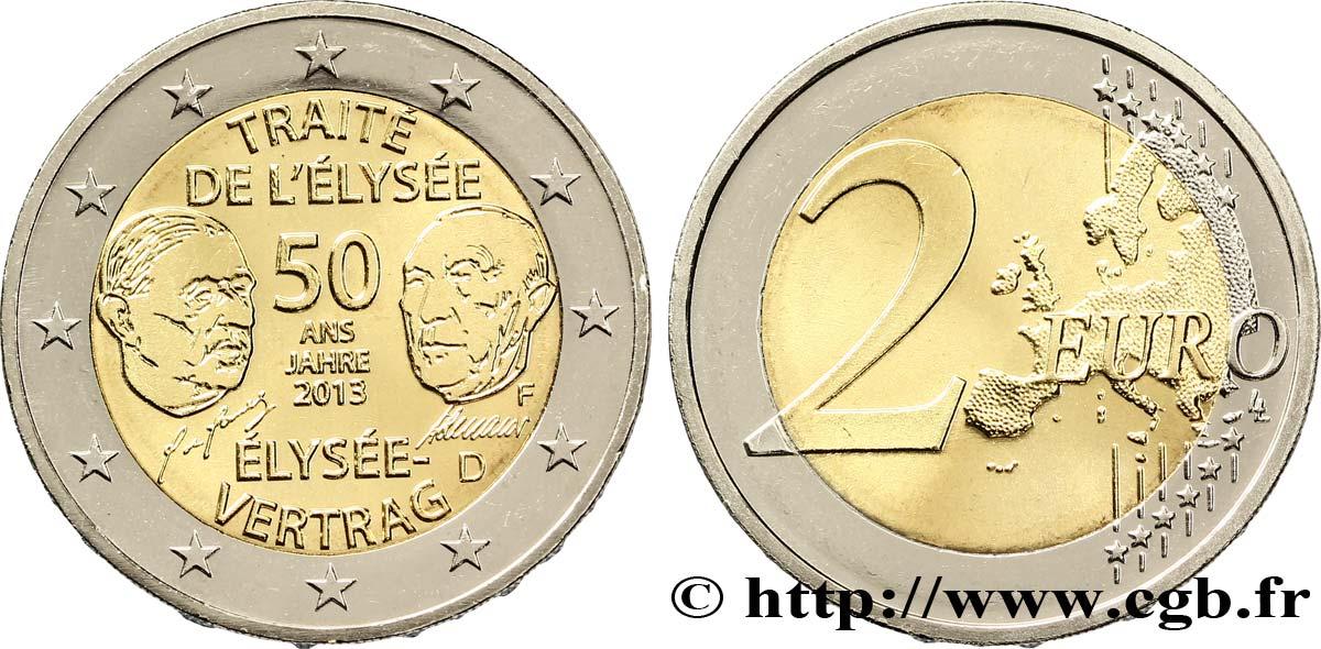 Deutschland 2 Euro 50 Ans Du Traité De Lélysée Tranche A