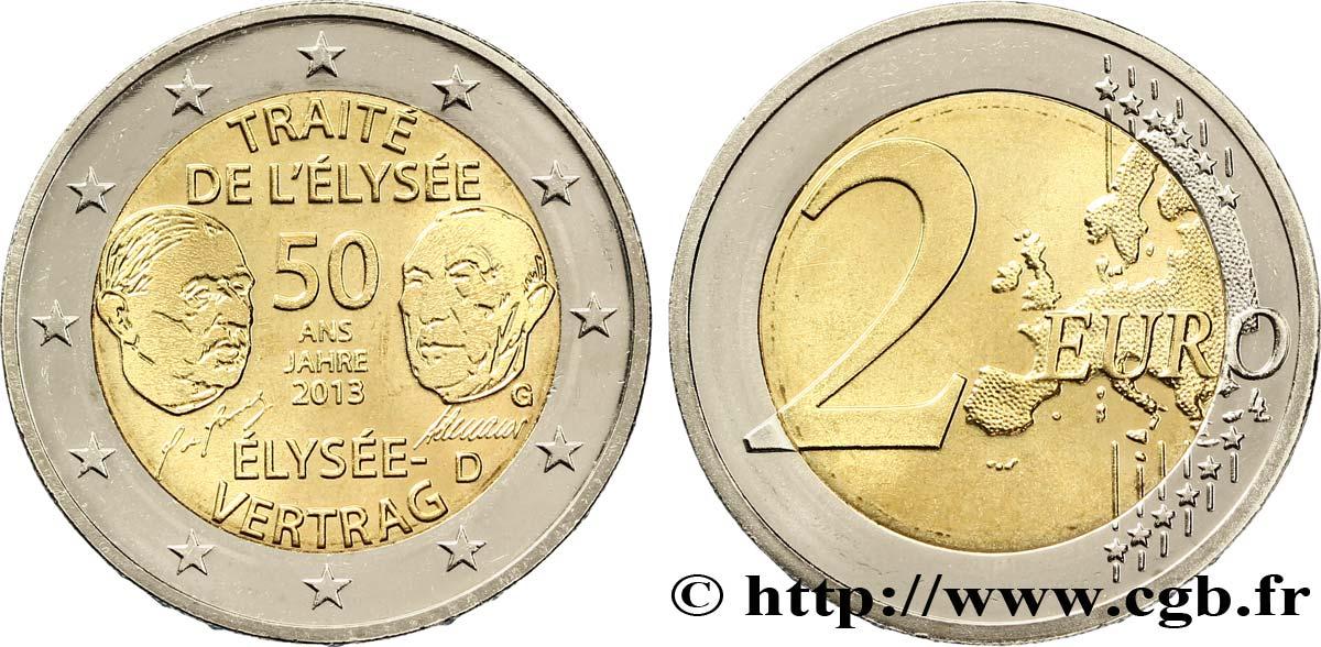 Deutschland 2 Euro 50 Ans Du Traité De Lélysée Tranche B