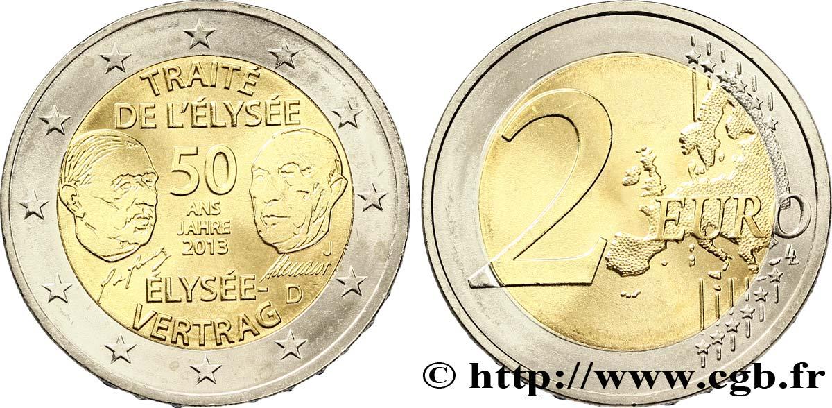 Deutschland 2 Euro 50 Ans Du Traité De Lélysée Hambourg J 2013