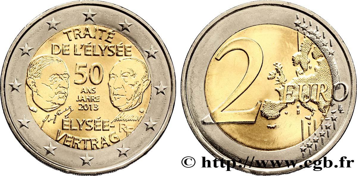 Frankreich 2 Euro 50 Ans Du Traité De Lélysée 2013 Pessac