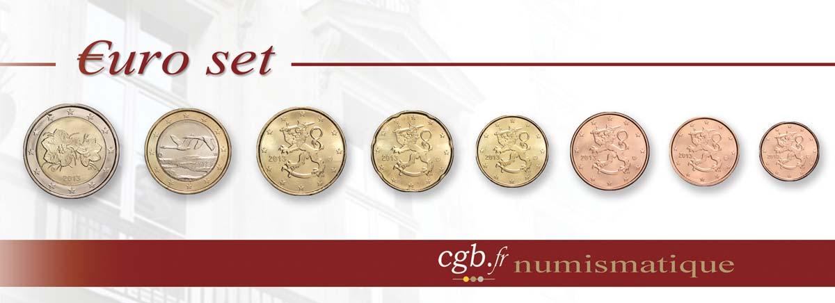 finlande lot de 8 pi ces euro 1 cent 2 euro petit m rier 2013 vanda feu 296386 euros. Black Bedroom Furniture Sets. Home Design Ideas