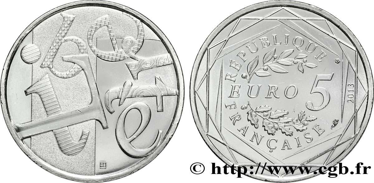France 5 Euro La Liberté 2013 Pessac Feu301073 Euros