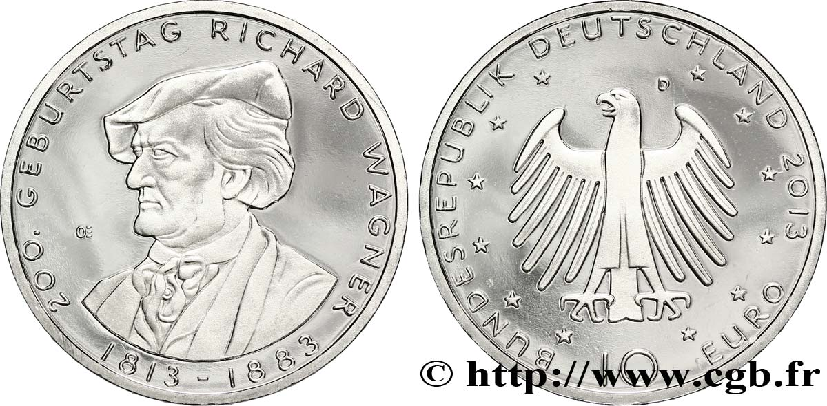 ALLEMAGNE 10 Euro RICHARD WAGNER tranche A 2013 SPL63