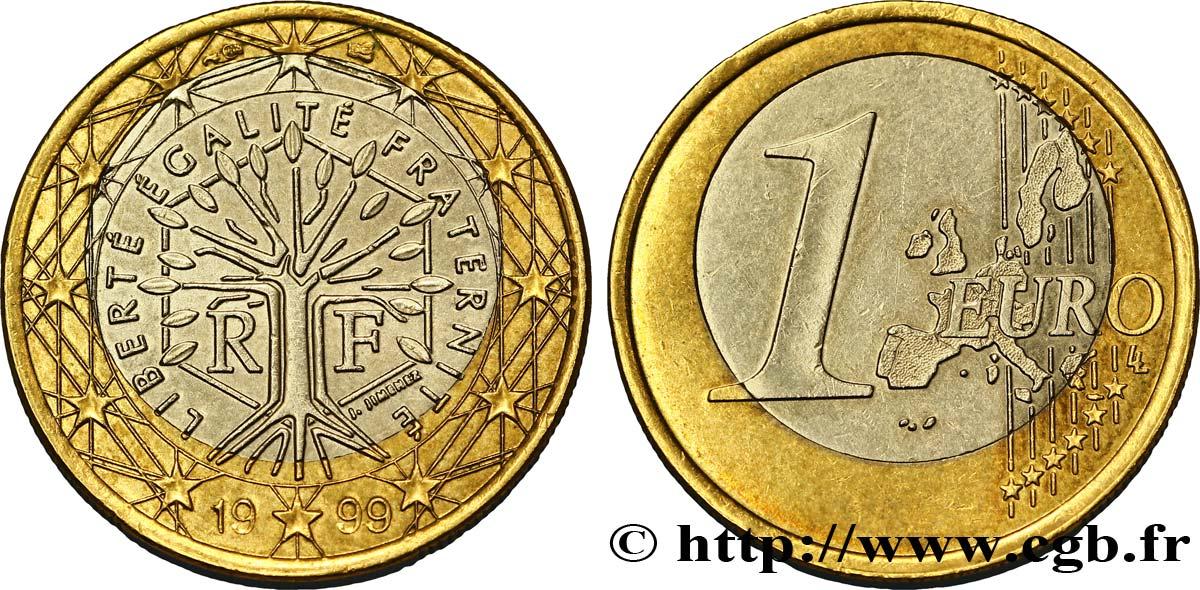 Frankreich 1 Euro Arbre Insert Décalé 1999 Pessac Feu304704 Euro