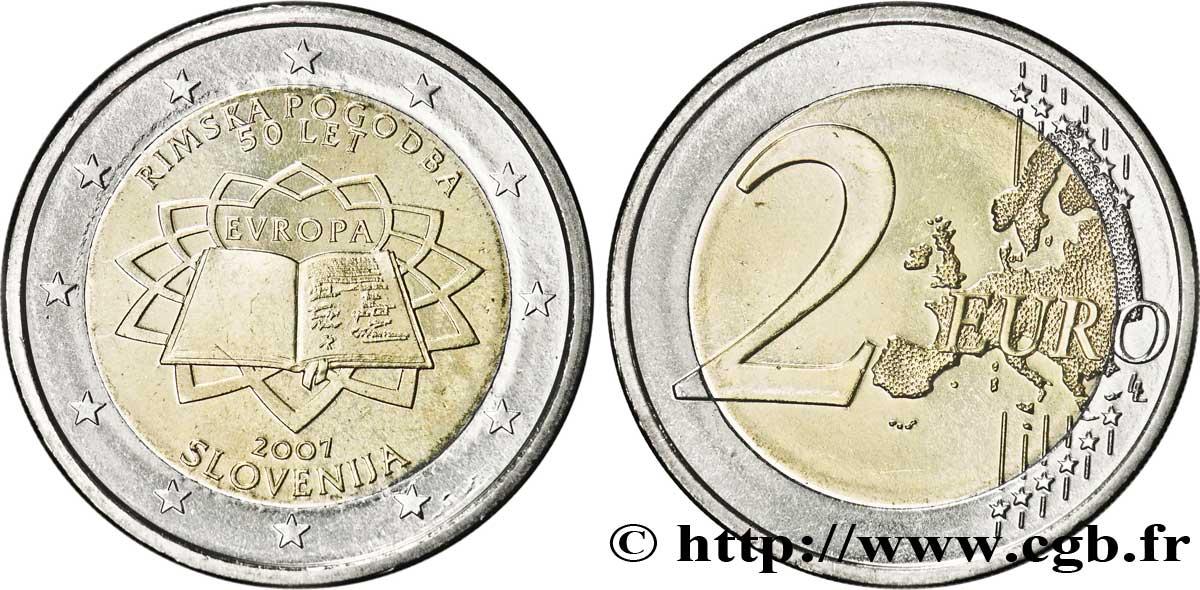 Slowenien 2 Euro Cinquantenaire Du Traité De Rome 2007 Vanda