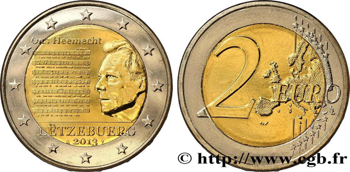 LUXEMBOURG 2 Euro HYMNE NATIONAL 2013 SPL63