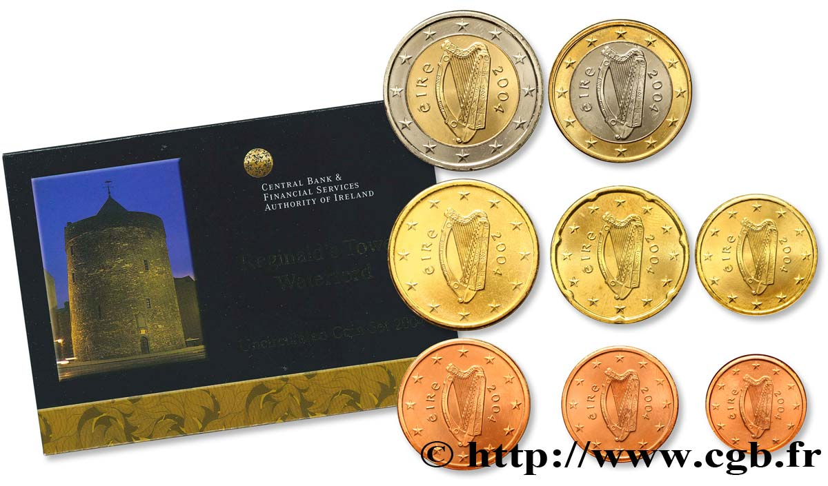 IRELAND REPUBLIC SÉRIE Euro BRILLANT UNIVERSEL - REGINALD'S TOWER DE WATERFORD 2004 Brilliant Uncirculated