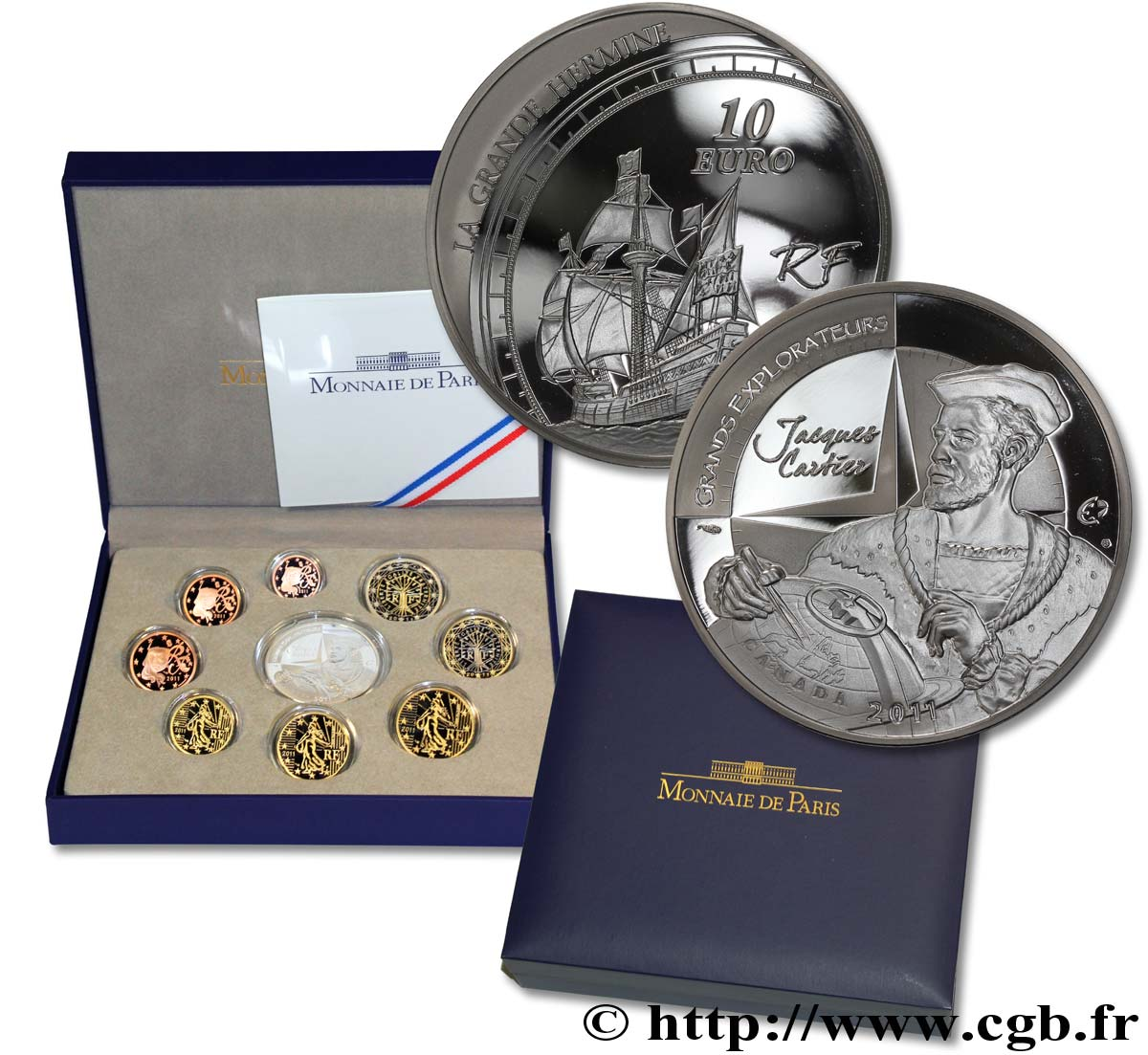 FRANCE COFFRET Euro BELLE ÉPREUVE 2011 BE
