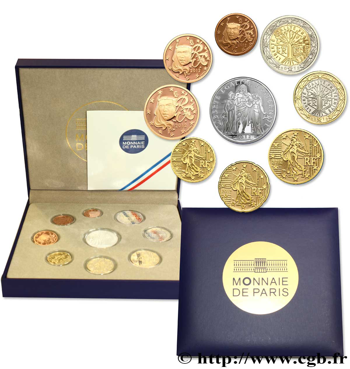 FRANCE COFFRET Euro BELLE ÉPREUVE 2012 BE