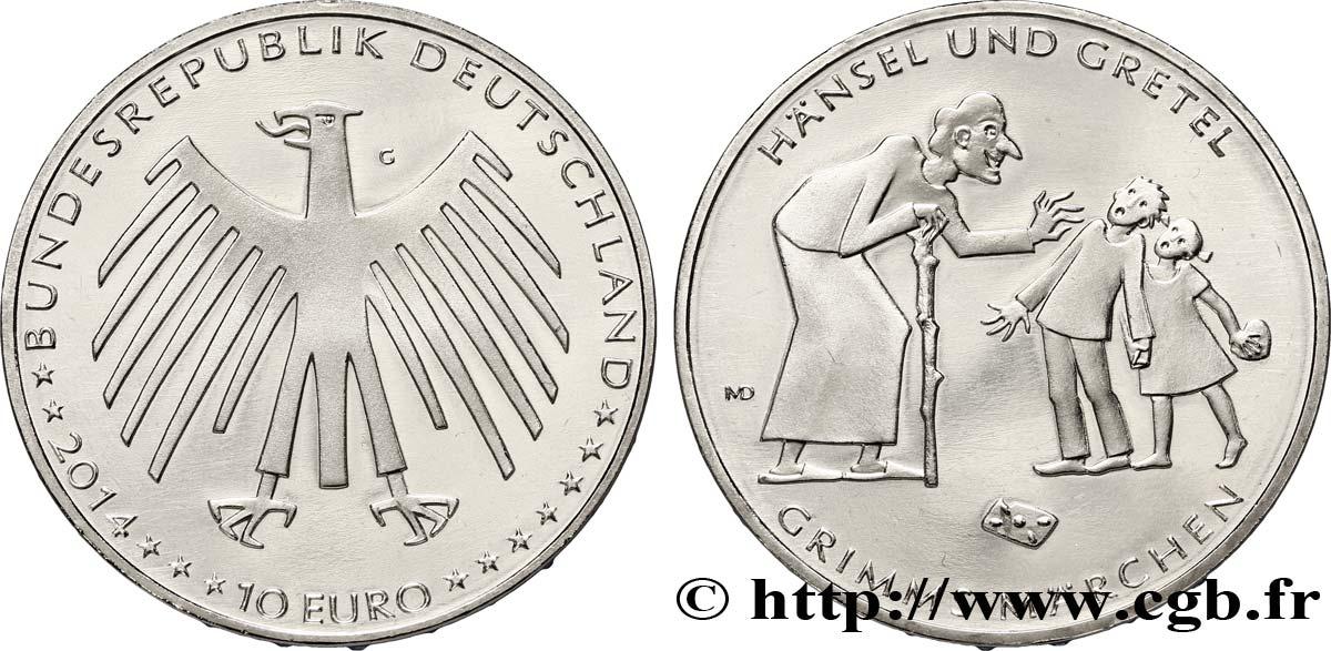 Deutschland 10 Euro Hansel Et Gretel 2014 Karlsruhe G Feu323141
