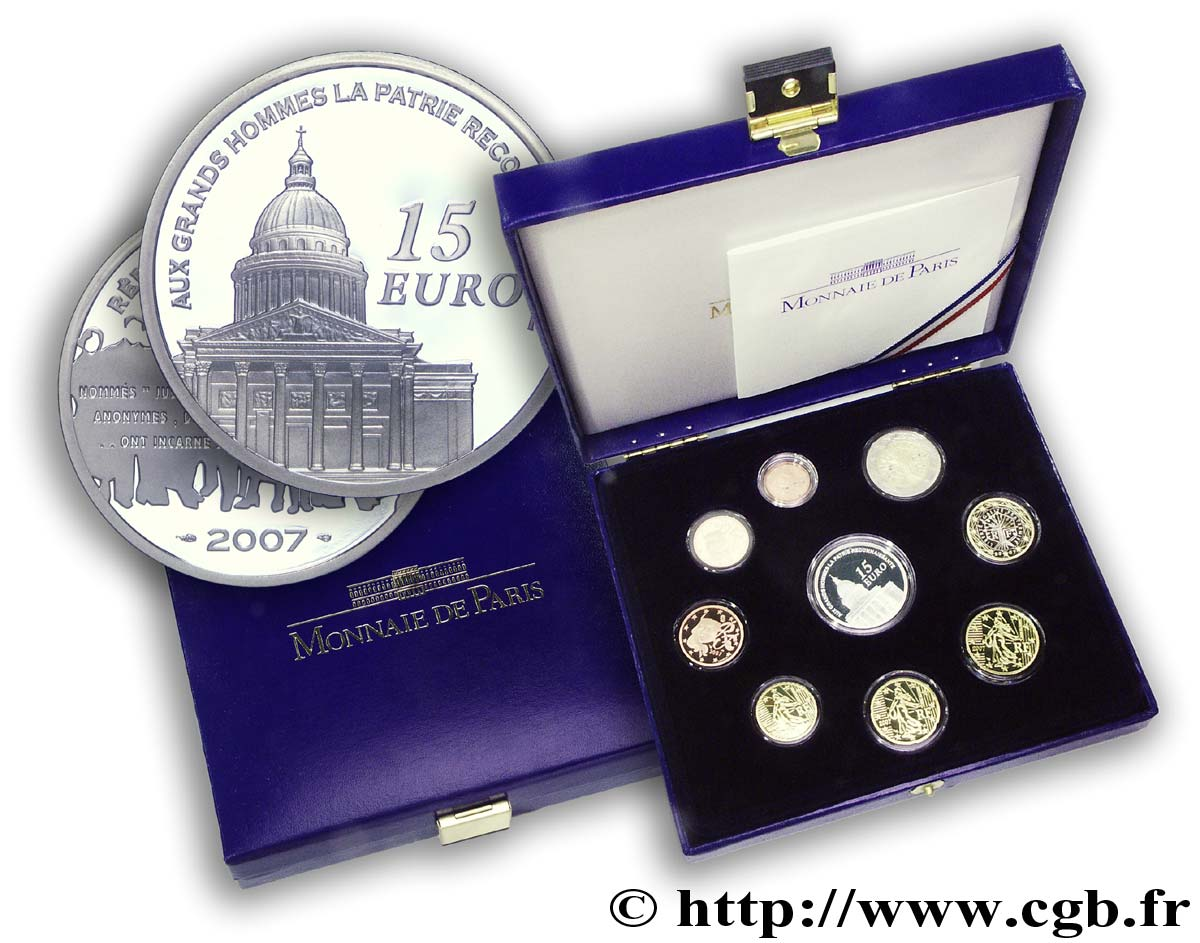 FRANCE COFFRET Euro BELLE ÉPREUVE 2007 Proof set