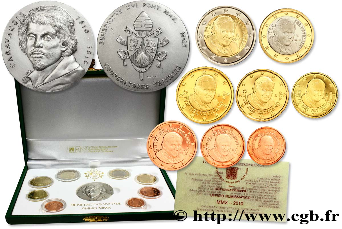 VATICAN COFFRET Euro BELLE ÉPREUVE 2010 Proof set