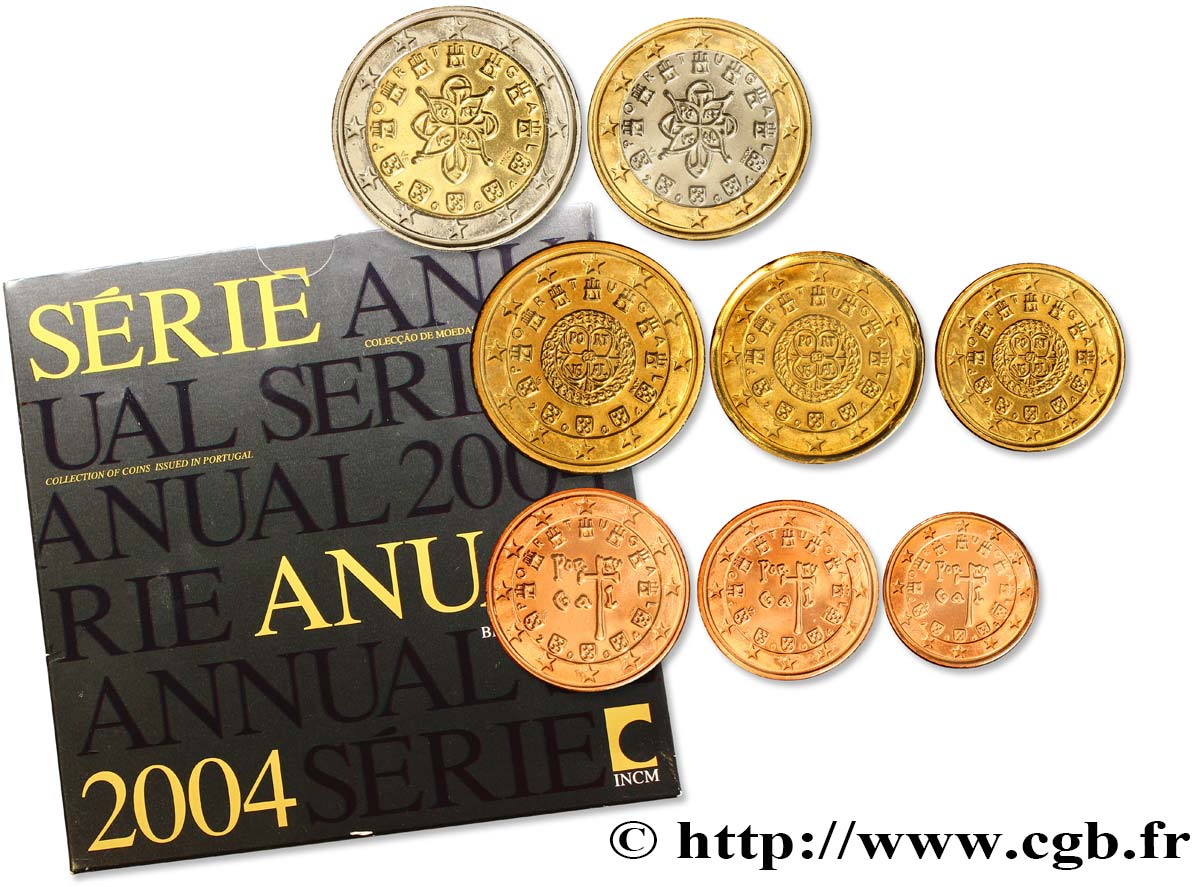 PORTUGAL SÉRIE Euro BRILLANT UNIVERSEL  2004 Brilliant Uncirculated