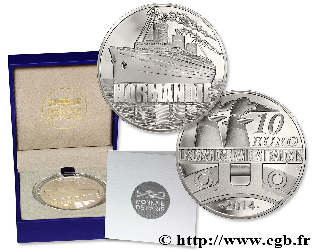 FRANCE Belle Épreuve 10 Euro NORMANDIE 2014 BE