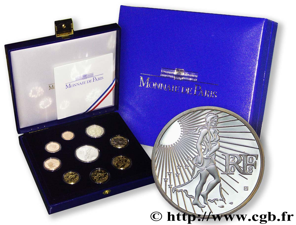 FRANCE COFFRET Euro BELLE ÉPREUVE 2008 BE
