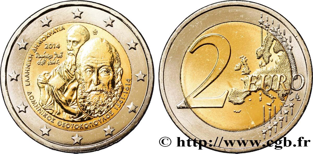 Griechenland 2 Euro El Greco 2014 Athènes Feu342393 Euro Münzen