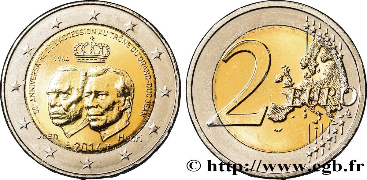 Luxembourg 2 Euro 50e Anniversaire De Laccession Au Trône Du Grand