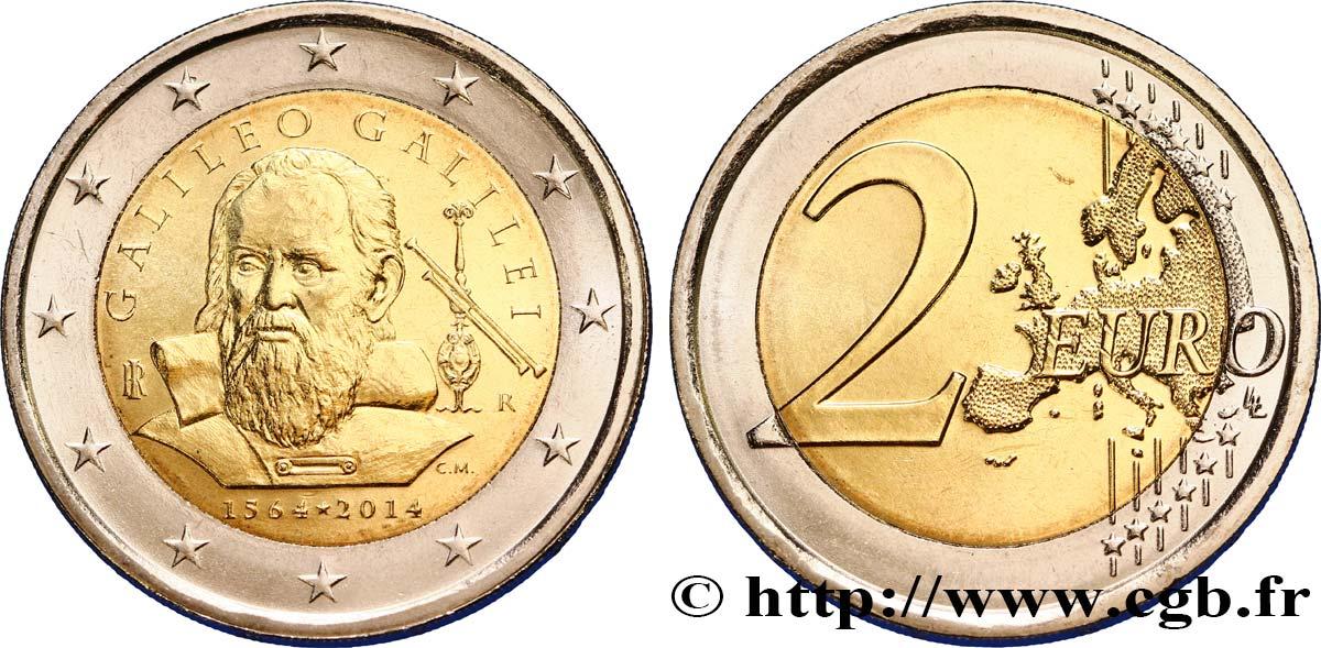 Italien 2 Euro Galilée 2014 Rome Feu351908 Euro Münzen