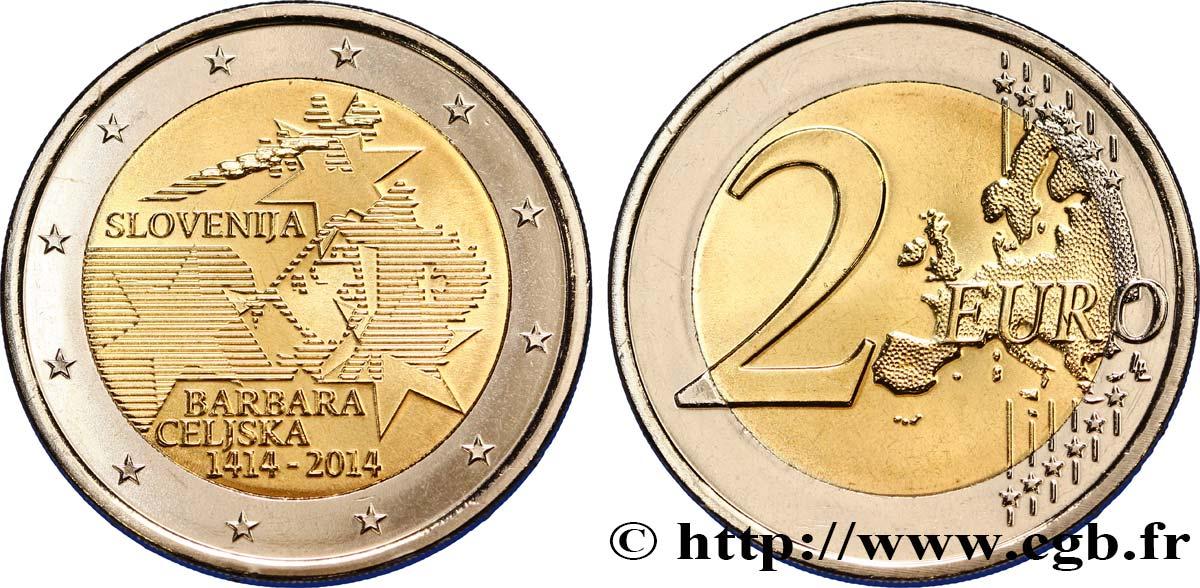 Slovénie 2 Euro Couronnement De Barbara De Celje 2014 Feu351916 Euros