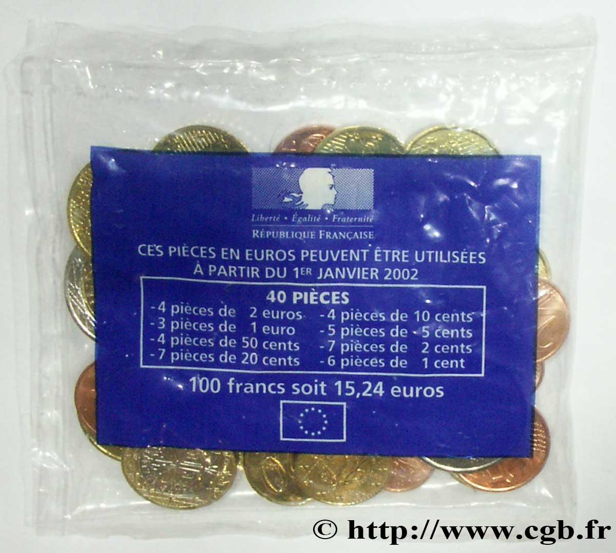 Frankreich Kit De Pré Alimentation 40 Pièces 19992001 Nd Pessac