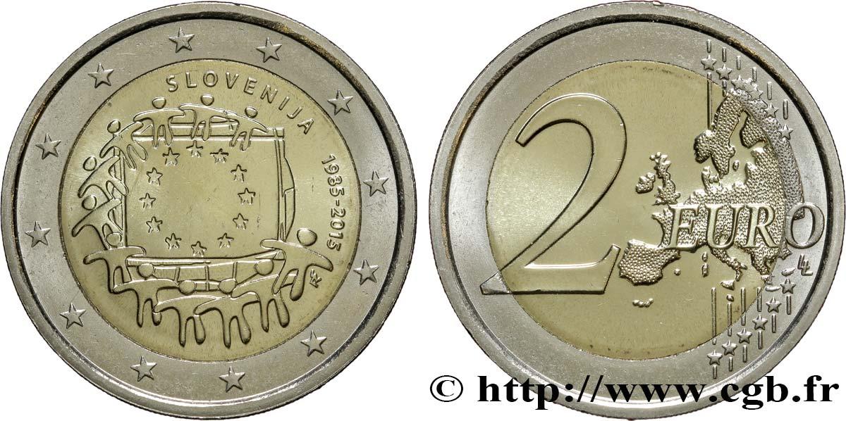 Slowenien 2 Euro 30e Anniversaire Du Drapeau Européen 2015