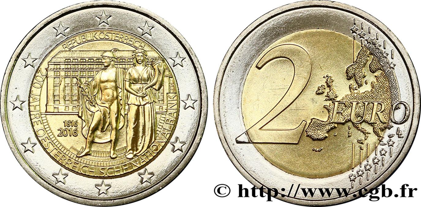 österreich 2 Euro 200e Anniversaire De La Banque Nationale D
