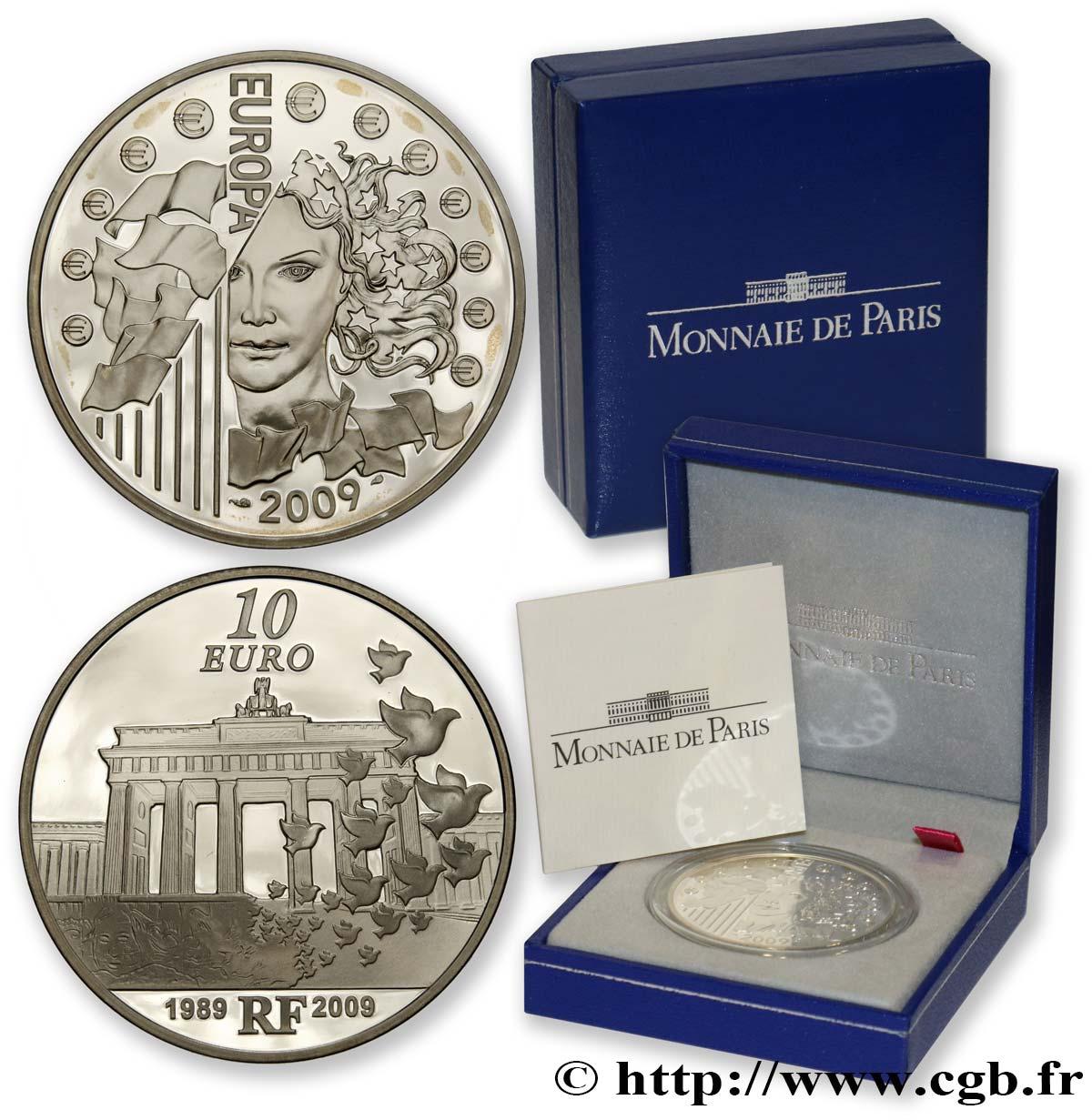 Frankreich Belle Epreuve 10 Euro Europa 2009 20e Anniversaire De