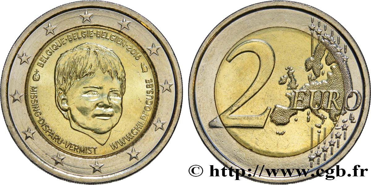 BELGIQUE 2 Euro CHILD FOCUS - JOURNÉE INTERNATIONALE DES ENFANTS DISPARUS 2016 SPL