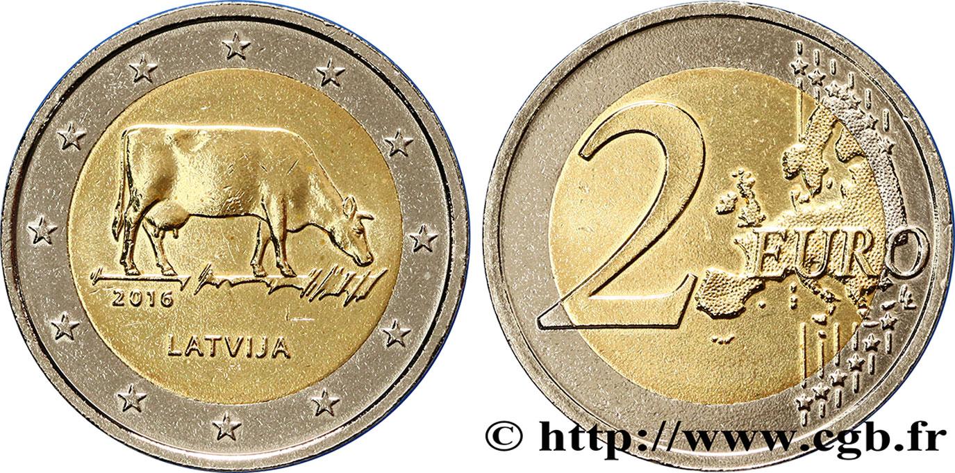 Lettland 2 Euro Agriculture Lettone 2016 Feu405707 Euro Münzen