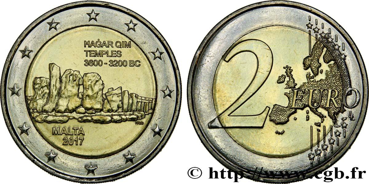 Malta 2 Euro Temple Agar Qim 2017 Feu443429 Euro Münzen