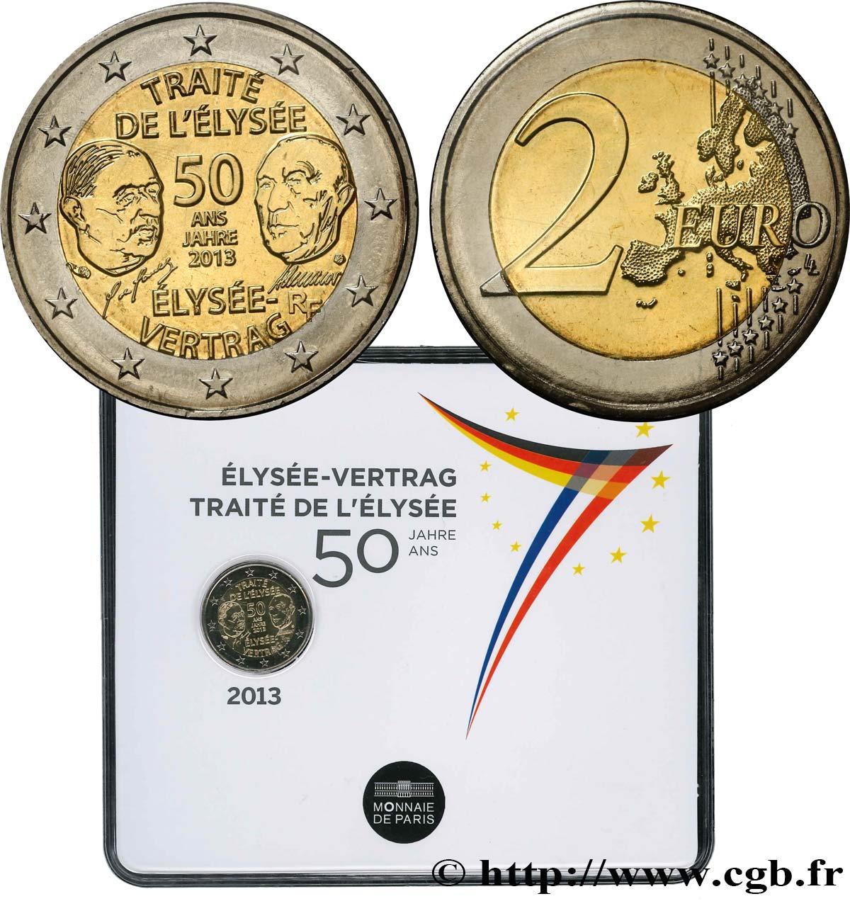Frankreich Coin Card 2 Euro 50 Ans Du Traité De Lélysée 2013 Pessac