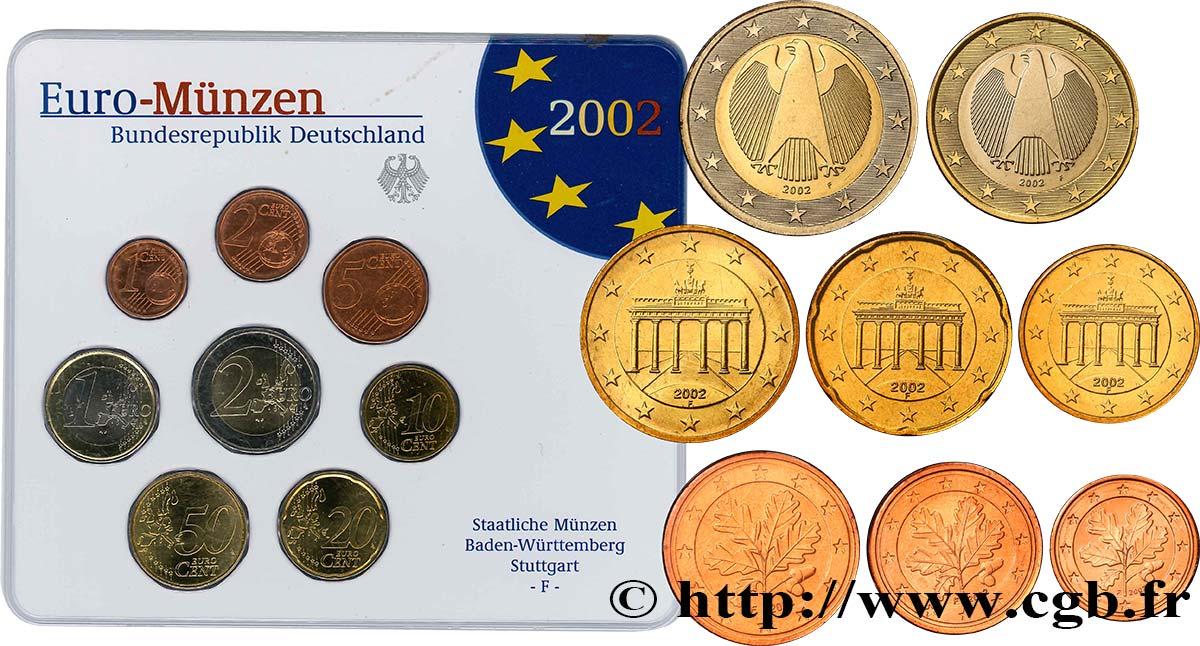 Allemagne Série Euro Brillant Universel Stuttgart F 2002 Stuttgart