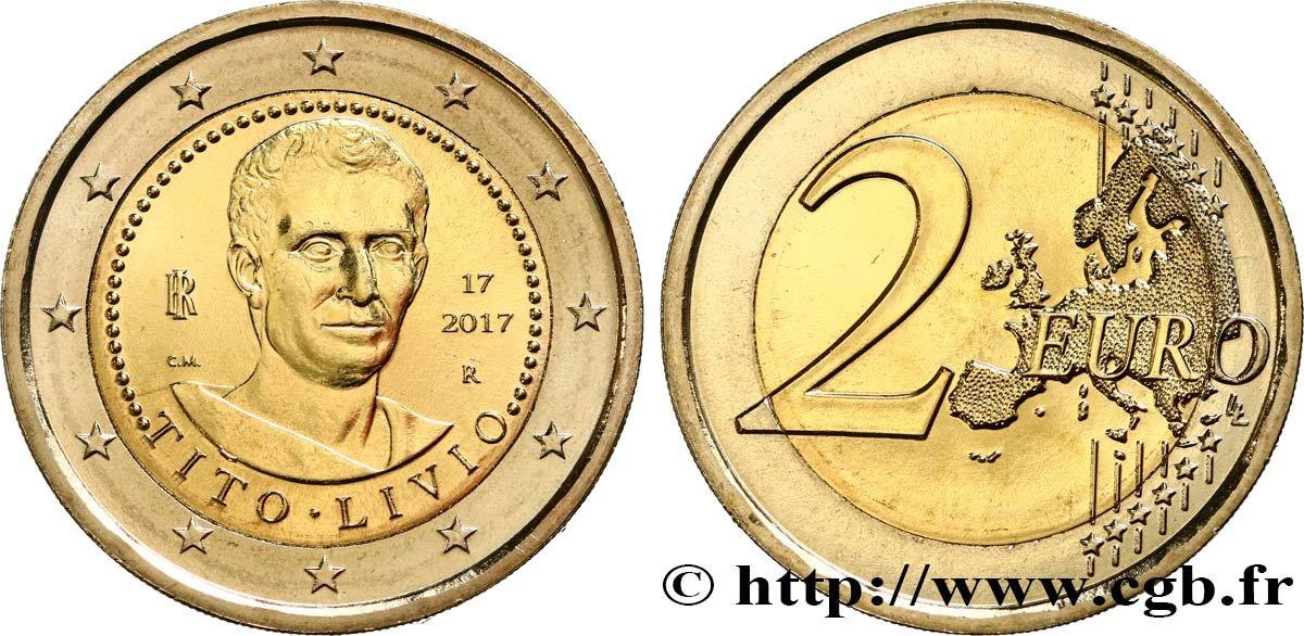 Italien 2 Euro Tite Live 2017 Rome Feu465677 Euro Münzen