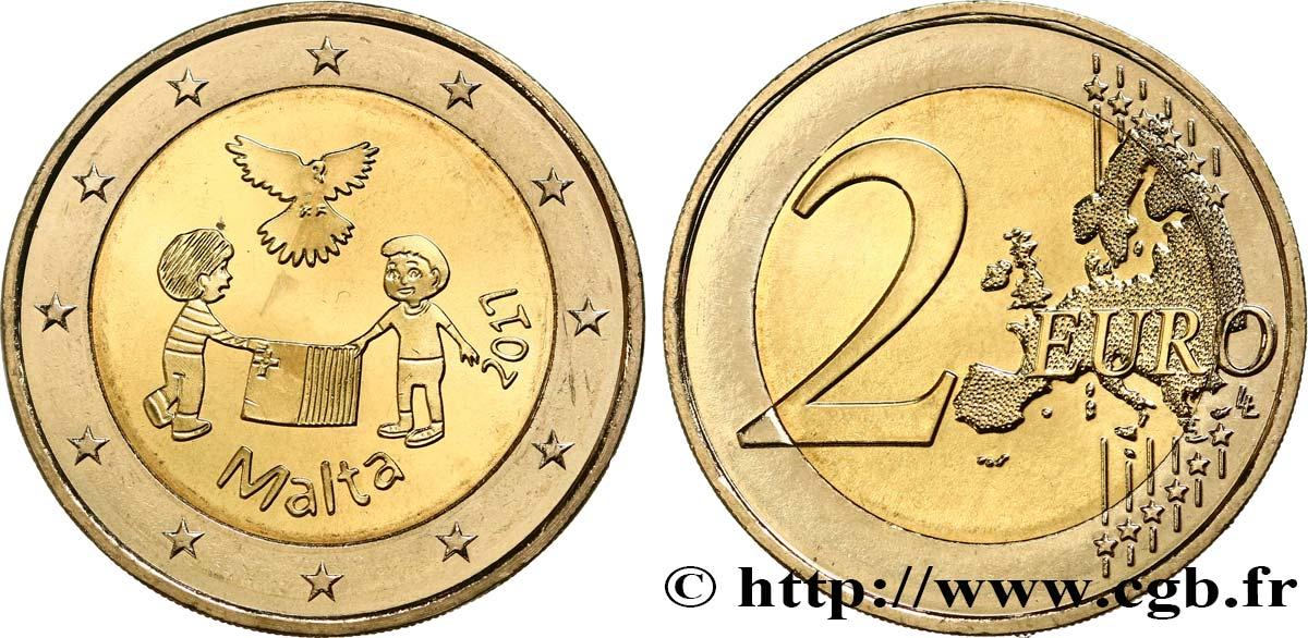 Malta 2 Euro Peace 2017 Feu465679 Euro Münzen