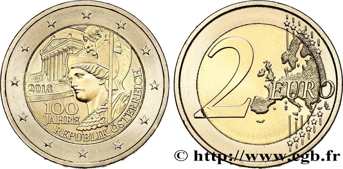 österreich 2 Euro 100e Anniversaire De La République Autrichienne