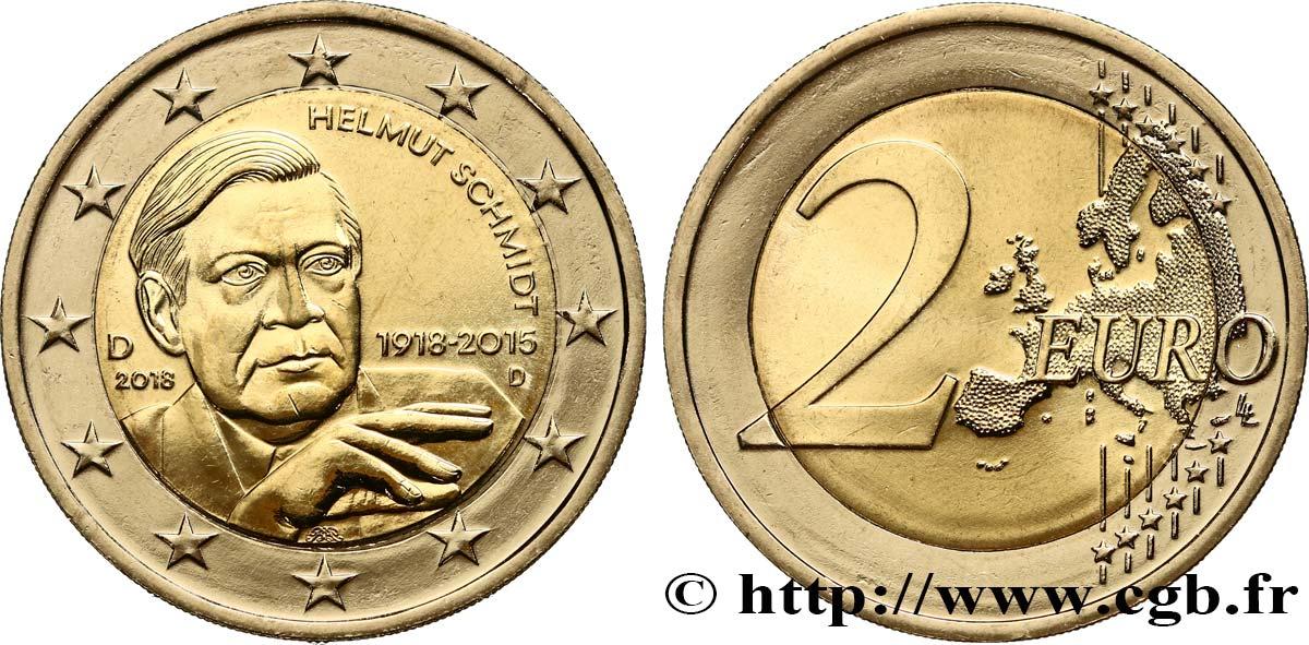 Deutschland 2 Euro Helmut Schmidt Munich D 2018 Munich D