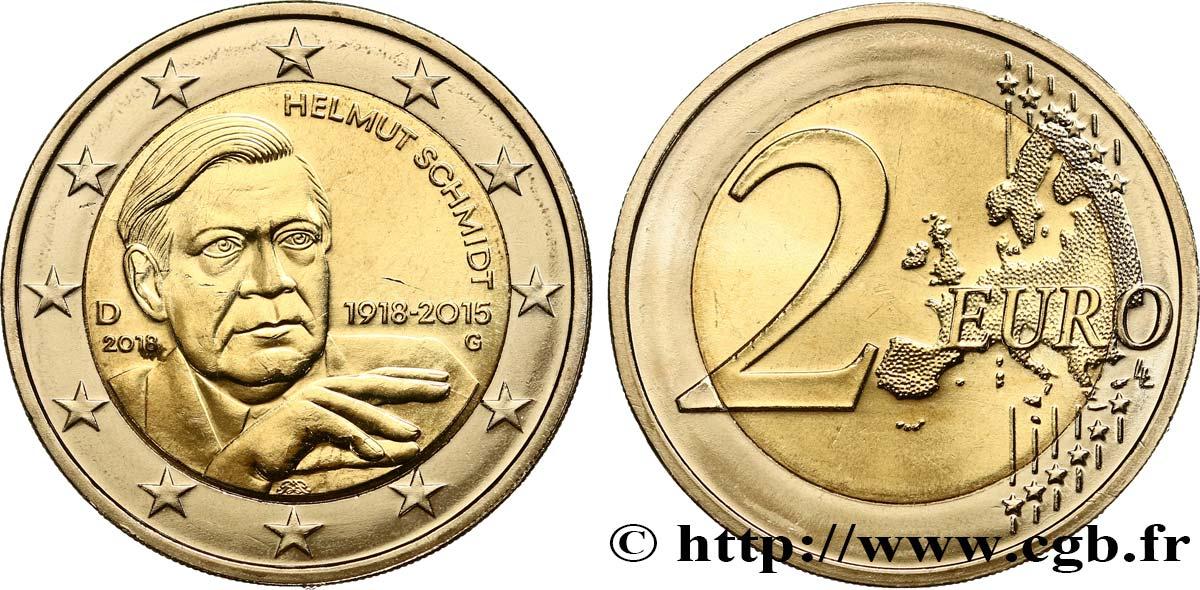 Deutschland 2 Euro Helmut Schmidt Karlsruhe G 2018 Karlsruhe G