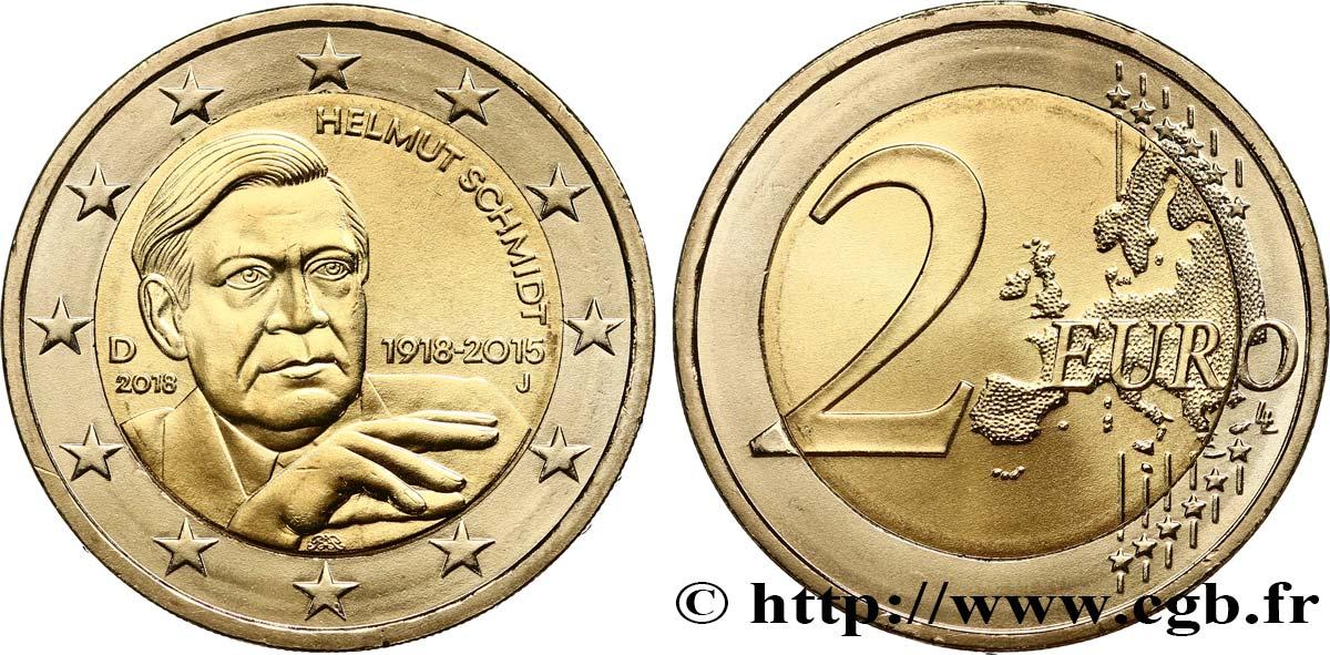Deutschland 2 Euro Helmut Schmidt Hambourg J 2018 Hambourg J